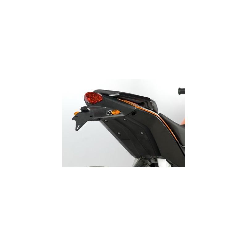 Support de plaque d'immatriculation R&G Racing noir KTM Duke 390 13-16 - 2
