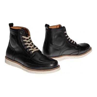 Chaussures moto Helstons Liberty Cuir Aniline Ciré noir
