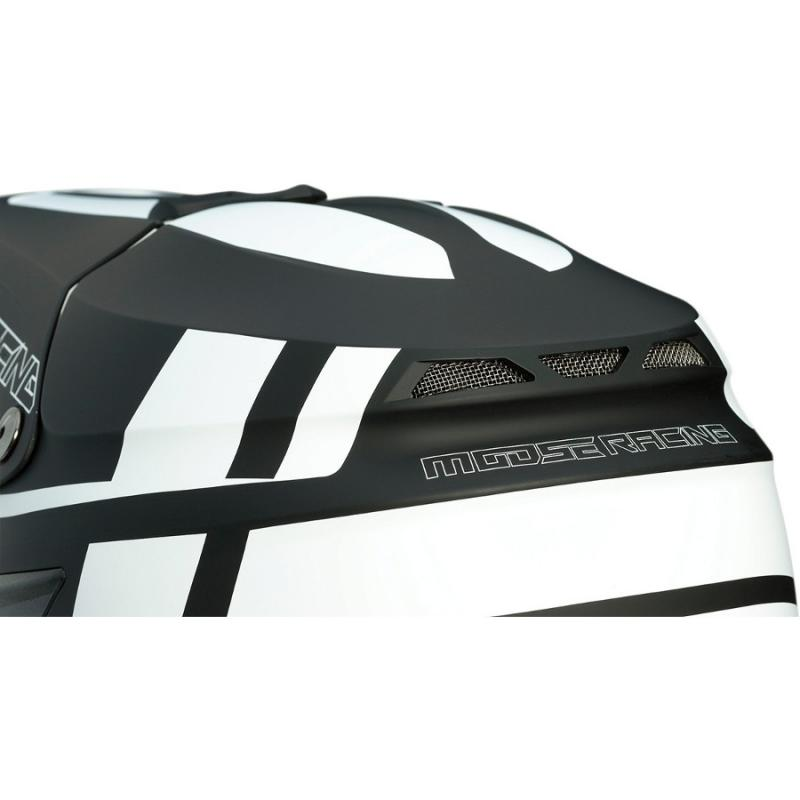 Casque cross Moose Racing FI Session Mips noir/blanc - 4