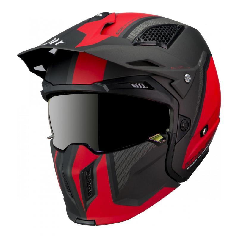 Casque transformable MT Helmets Streetfighter SV rouge-noir mat