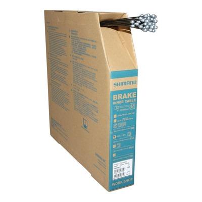 Câbles de frein route Shimano téflon Ø1,6mm x 2,05m (boîte de 50 câbles)