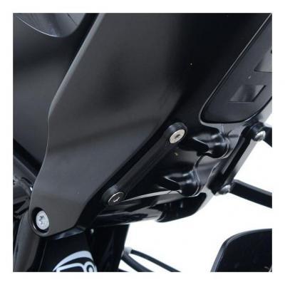 Caches orifices de repose-pieds passager gauche R&G Racing noir Husqvarna Vitpilen 701 18-20