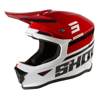 Casque cross Shot Furious Shining brillant rouge