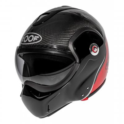 Casque modulable Roof RO9 Boxxer Carbon Uni rouge