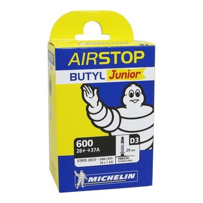 Chambre à air vélo Michelin Air Stop 600A x 28/37 24 x 1,3/8 D3 Presta 29mm