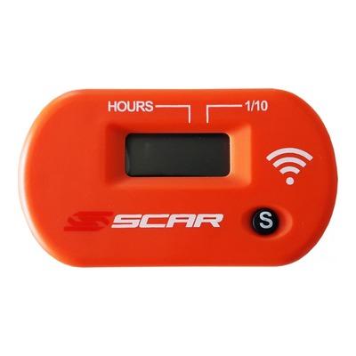 Compteur d'heure sans fil Scar orange