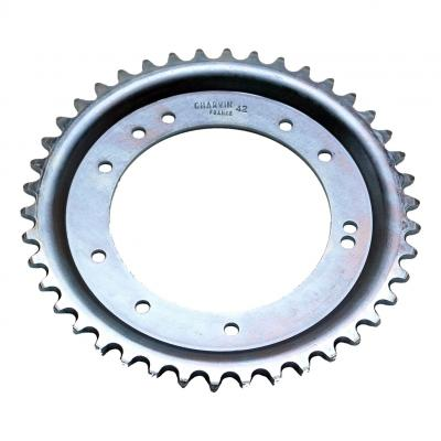 Couronne cyclo MBK 51 adaptable 42 dents Ø 98mm fiaxation 10 Trous