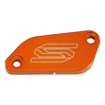 Couvercle de maître cylindre de frein avant Scar aluminium anodisé orange pour KTM SX 85 03-12