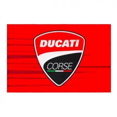 Drapeau Ducati Corse rouge/nir