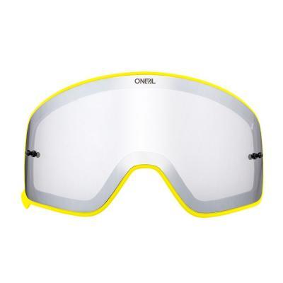 Écran O'Neal pour masque B 50 miroir argent avec cadre jaune