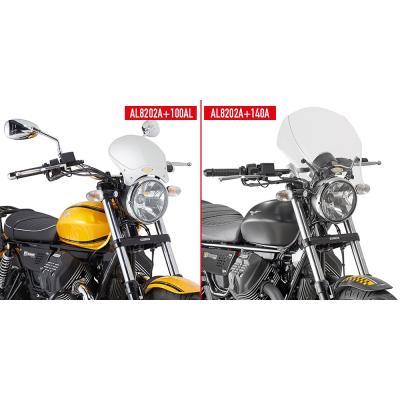 Kit de fixation Givi pour bulle 100AL/100ALB/140A/140S Moto Guzzi V9 Roamer 16-18