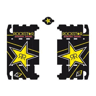 Kit déco de radiateur Blackbird Racing Rockstar Energy Yamaha 125 YZ 02-19 noir/jaune