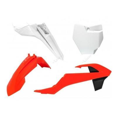 Kit plastique RTech couleur d'origine pour KTM SX 65 16-21 orange/blanc