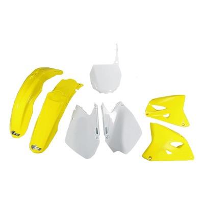 Kit plastique UFO Suzuki 125 RM 06-12 jaune/blanc (couleur origine)