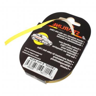 Liseret Tuning Starline 10m x 6mm, jaune