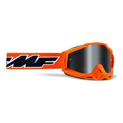 Masque cross FMF Vision PowerBomb Sand Rocket orange - écran fumé