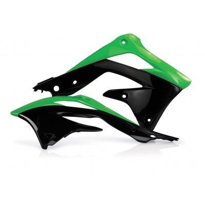 Ouïes de radiateur Acerbis Kawasaki 450 KXF 12-15 vert/noir (paire)