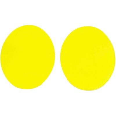 Plaques numéro frontale UFO vintage X2 type moto année 70 jaune