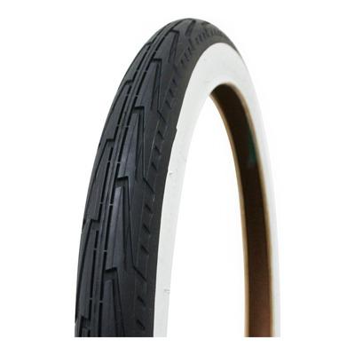 Pneu vélo City Michelin City J Confort TR noir/flanc blanc (16 x 1.3/8'')