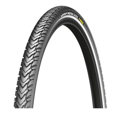 Pneu vélo VTT Michelin Protek Cross Max TR noir/flanc réfléchissant (26 X 1.60'')