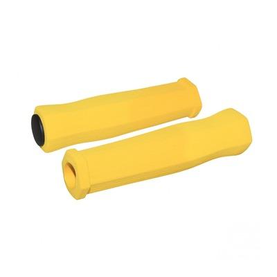 Revêtements de poignées vélo Newton Mousse haute densité jaune