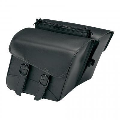 Sacoches latérales Willie & Max cuir synthétique modèle Black Jack S noir
