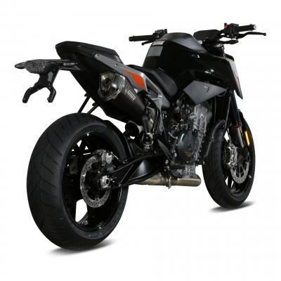 Silencieux Mivv Delta Race inox noir casquette carbone KTM Duke 790 18-20