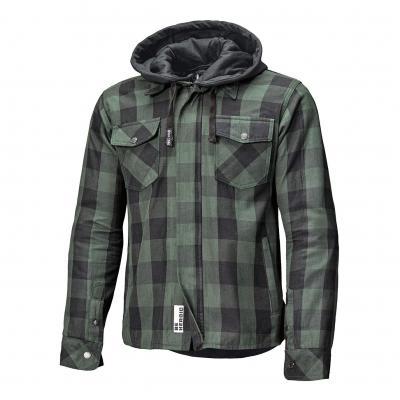 Sur-chemise textile à capuche Held Lumberjack II noir/vert