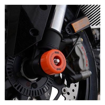 Tampons de protection de fourche R&G Racing orange KTM 1290 Super Duke R 14-20