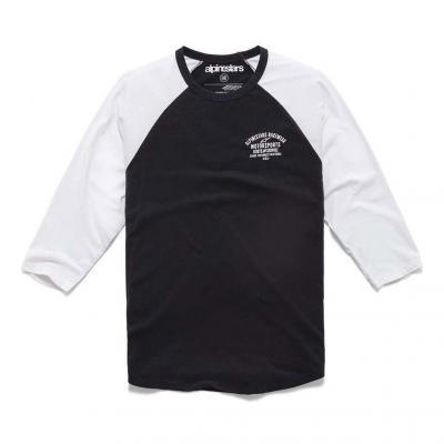 Tee-shirt manches longues Booted Premium Raglan tee noir/blanc