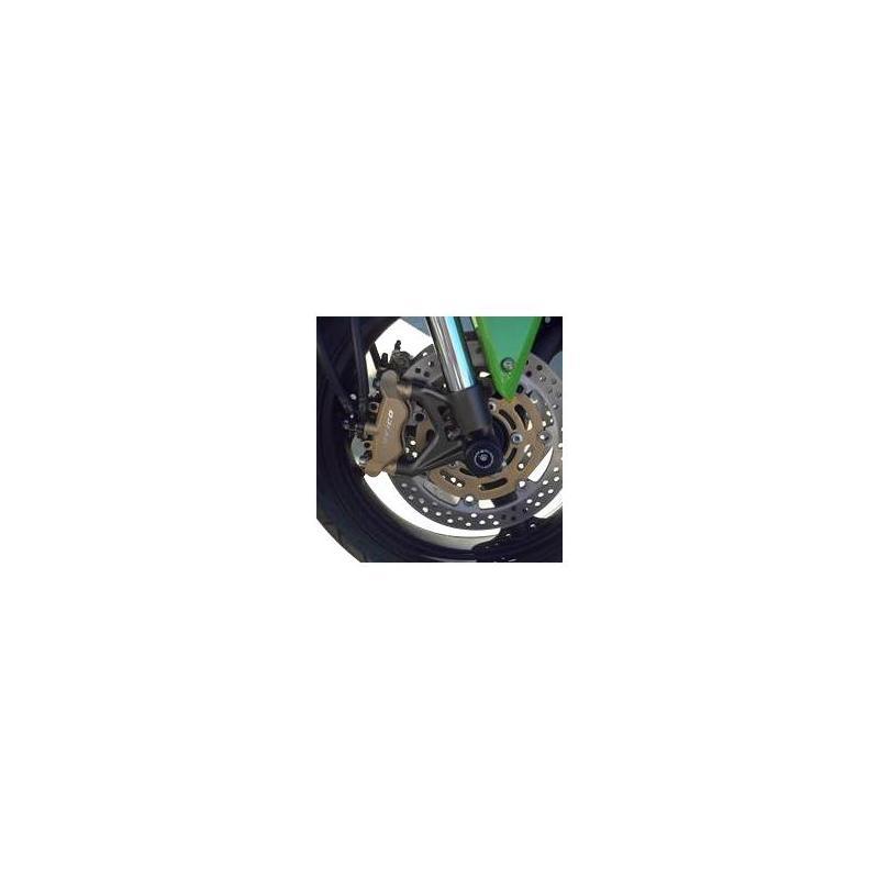 Tampons de protection de fourche R&G Racing noirs Kawasaki ZX-12R 00-06