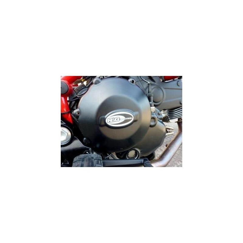 Couvre carter d'embrayage R&G Racing noir Ducati 848 08-10