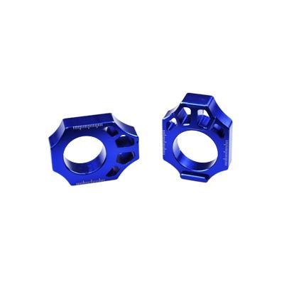 Tendeur de chaîne Scar aluminium anodisé bleu pour Kawasaki KX 250 F 04-16