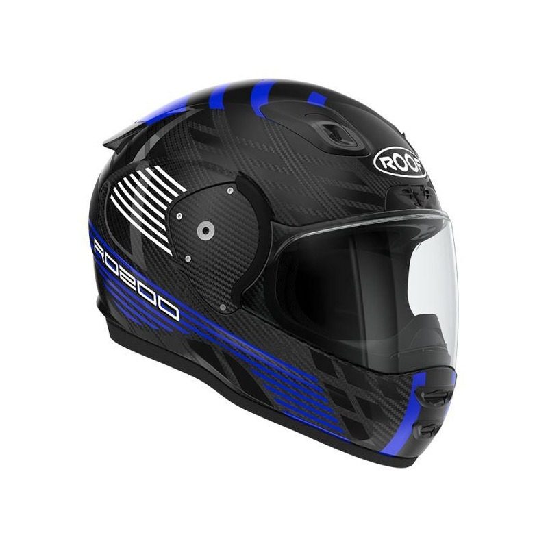 Casque intégral Roof RO200 Carbon Speeder noir/bleu