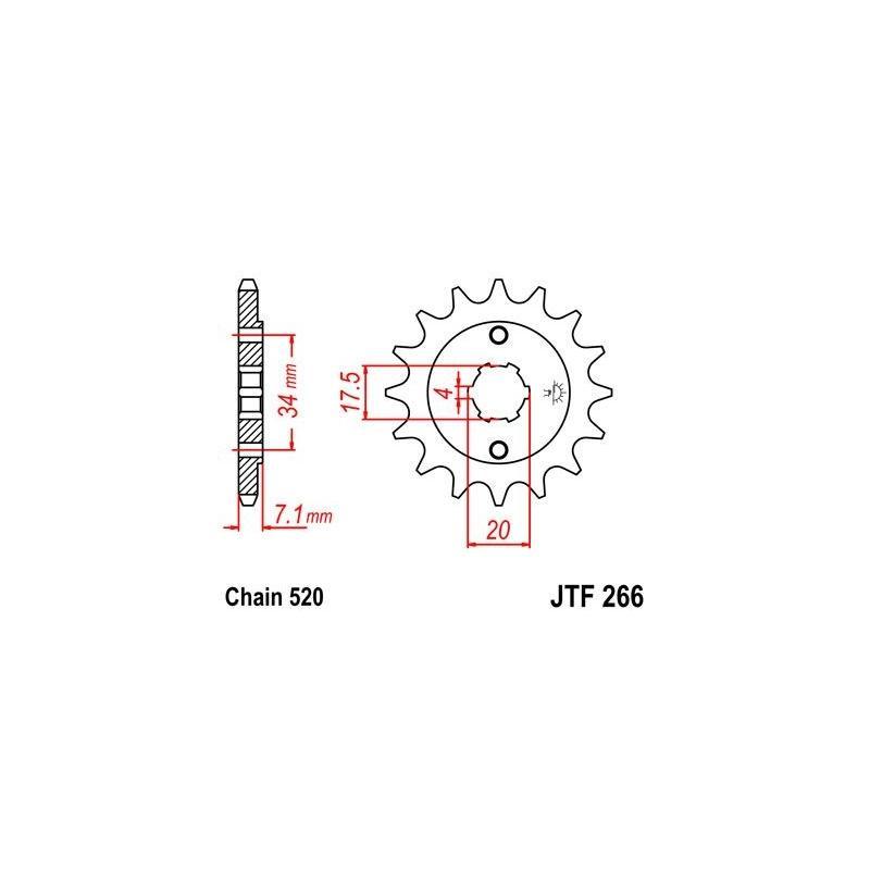 Pignon JT Sprockets Acier pas 520 14 dents - Pour Honda CBX 250