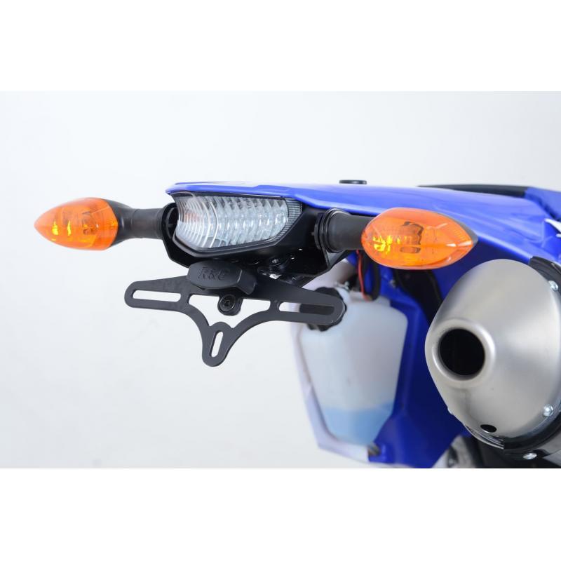 Support de plaque d'immatriculation R&G Racing noir Yamaha WR 450 F 12-15