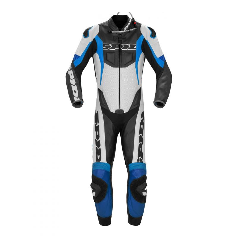 Combinaison cuir Spidi Sport Warrior P.Pro blanc/bleu