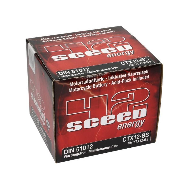 Batterie Sceed 42 YTX12-BS 12V 10Ah avec pack acide - 3