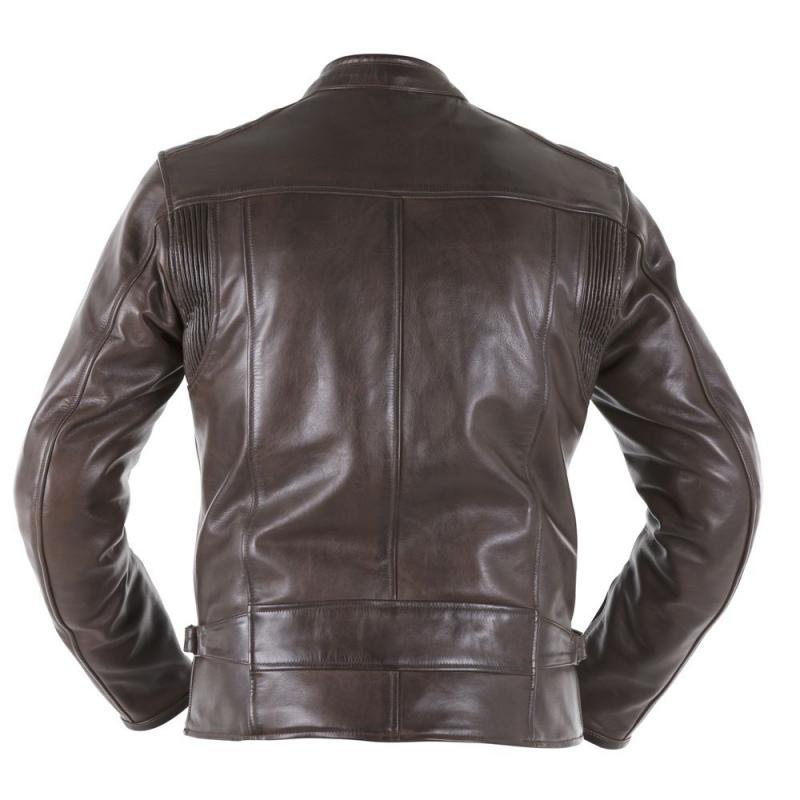 Blouson cuir Overlap RAINEY marron - 2