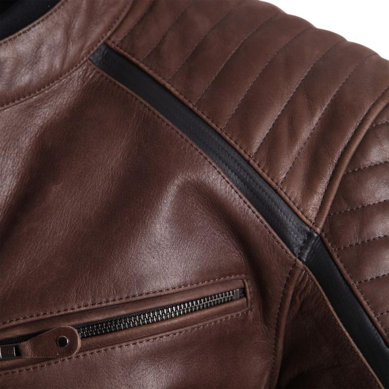 Blouson cuir Segura HORNER marron/noir - 2