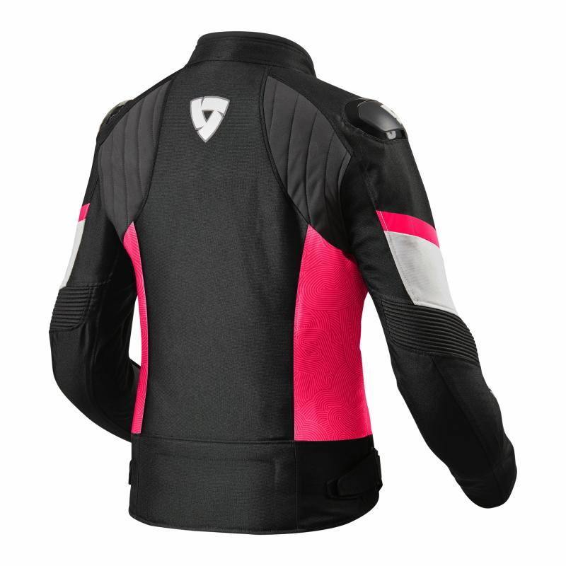 Blouson textile femme Rev'it Arc H2O Ladies noir/fuchsia - 1
