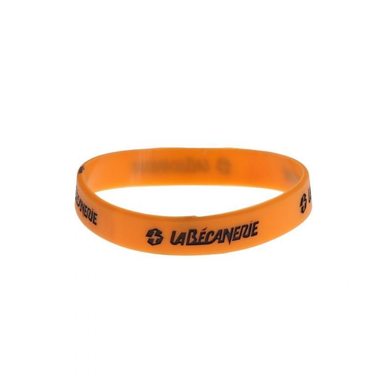 Bracelet silicone La Bécanerie orange/noir