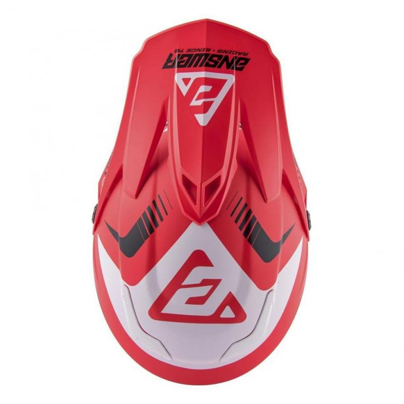 Casque cross Answer AR5 Pulse rouge/blanc - 3