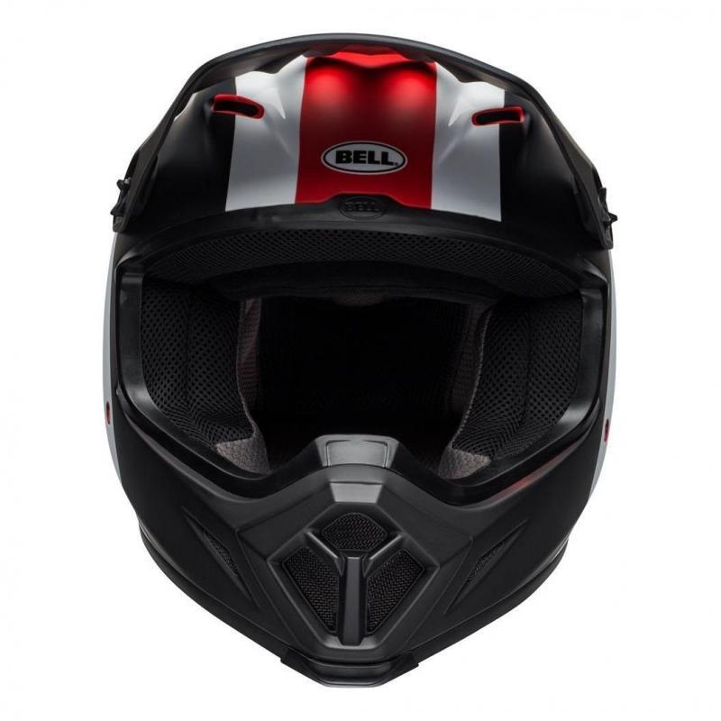 Casque cross Bell MX 9 Mips Presence noir/blanc/rouge - 6