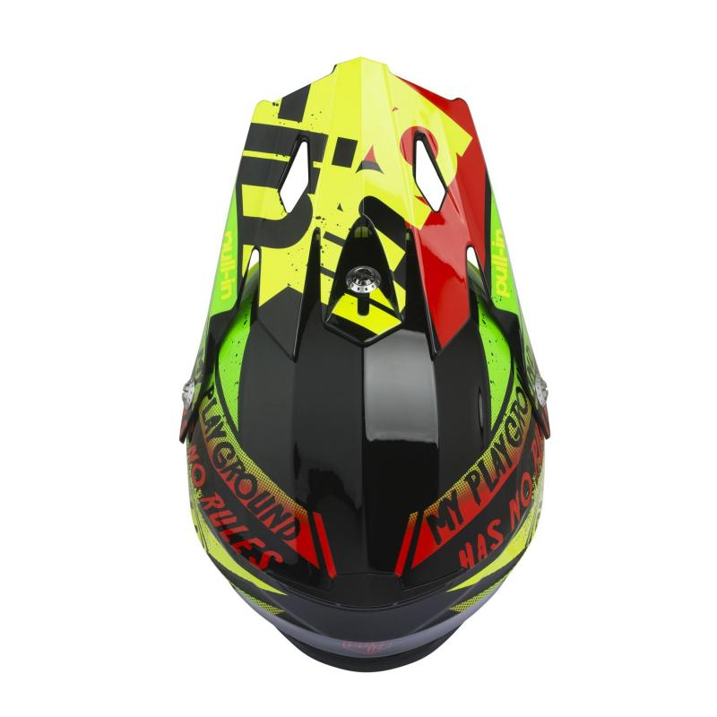 Casque cross enfant Pull-in Trash jaune fluo/lime - 2