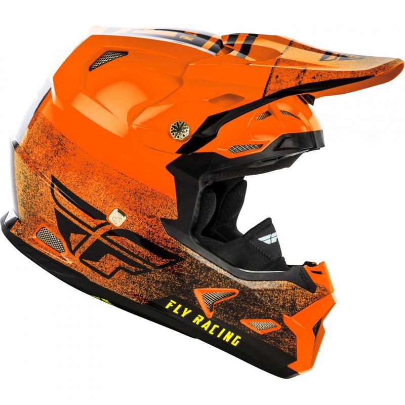 Casque cross Fly Racing Toxin Mips Embargo orange/noir - 1