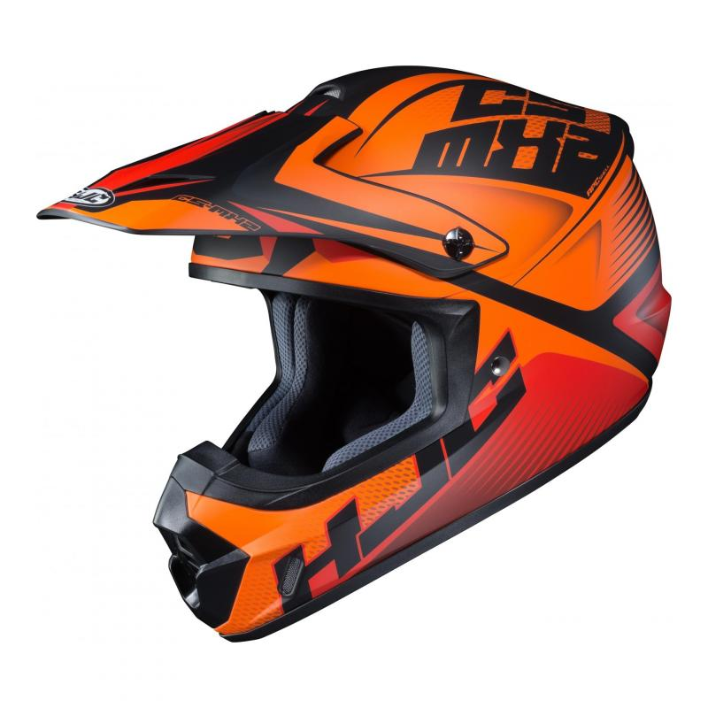Casque cross HJC CS-MX II Ellusion MC5SF orange/rouge/noir mat