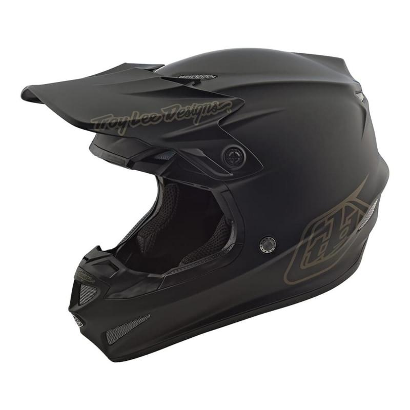Casque cross Troy Lee Designs SE4 Polyacrylite Mono noir