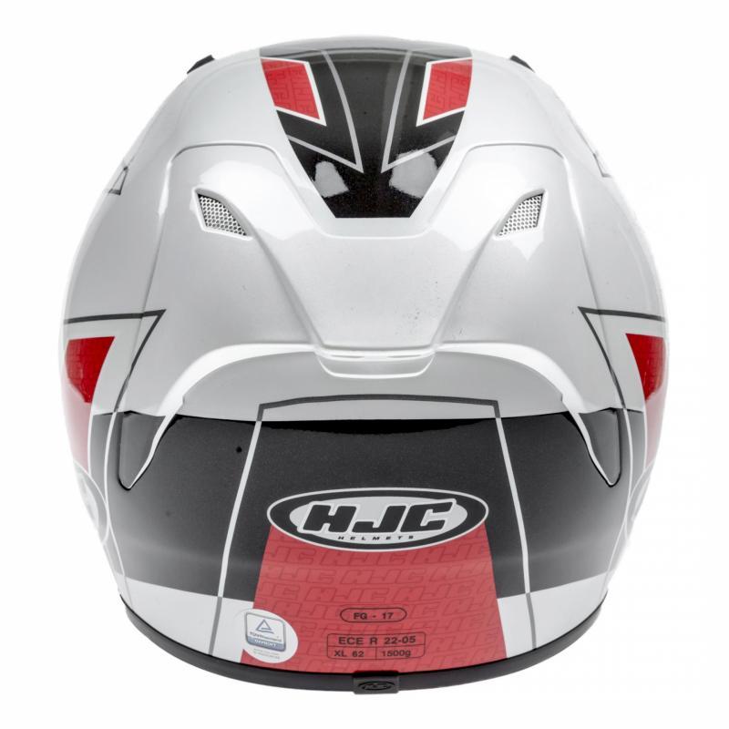 Casque intégral HJC FG-17 ZODD MC1 Blanc/Noir/Rouge - 4