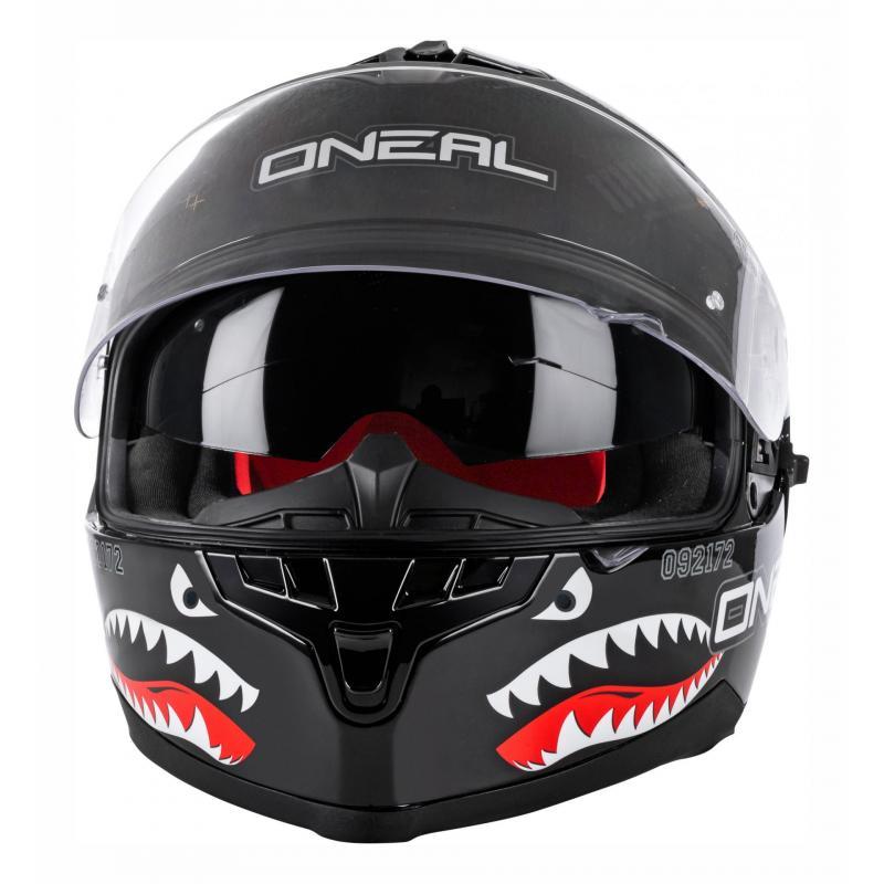 Casque intégral O'Neal Challenger Wingman Microlock noir - 3